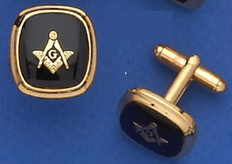 Gold Plated Square & Compass Cufflinks MAS1507CL