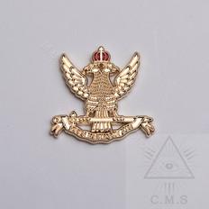 Scottish Rite eagle lapel pin