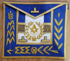 District Deputy Grand Master Dress Aprons No Fringe with District   Best Quality Hand Embroidered on Real Leatherher