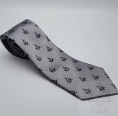 Steel Grey Masonic Tie