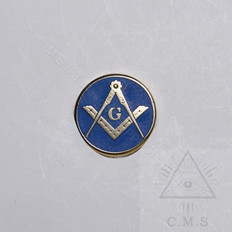 Masonic Round Square and Compass Lapel Pin