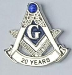 Masonic Anniversary  20 Year Lapel Pin