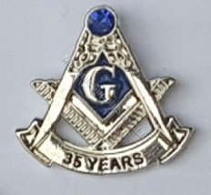 35 year masonic lapel pin