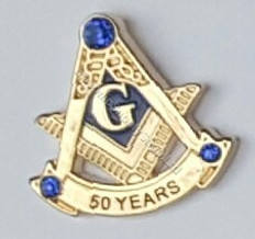 Masonic 50 Year Membership Lapel Pin