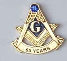 65 year Masonic lapel pins
