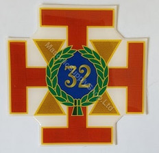 Scottish Rite 32nd Degree car Decal