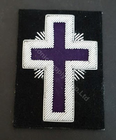 Knight Templars  Badge   Purple  Large  PAIR