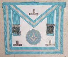Irish  Past Master Apron with Lodge Badge