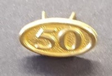 50 Year  Ribbon Pins for Jewels