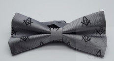 Gray Masonic Bow Tie