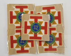 Car Decal  Scottish Rite 32nd Degree    5 pack