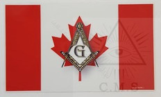 Canadian Flag with Masonic Square and Compass