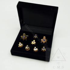 Masonic Cuff link and Shirt Stud Set