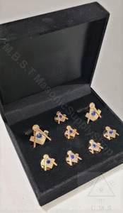 Masonic Cuff Link and 5 Shirt Stud Set