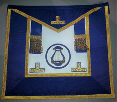 Past  Grand  Officers  Undress  Aprons with Circle   Gold trim
