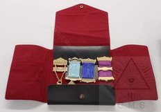 Masonic Jewel Wallet  4 jewels