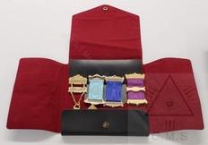 Masonic Jewel Wallet  4 jewels