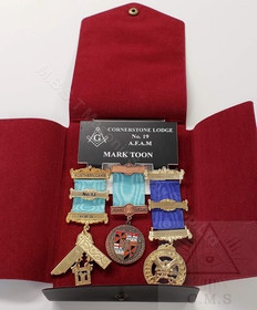 Masonic Name badges with jewel wallet