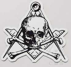 Skull and crossed bones car decal