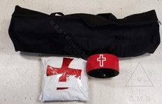 Knight Templar Mantle,Hat & Bag