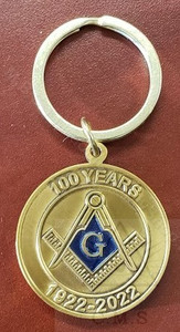 Sample Only  Masonic Custom Made Lodge Key Chain