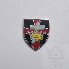 Knight Templar Shield with Crown & Cross lapel pin
