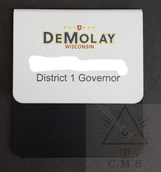 Order of DeMolay Name Badge