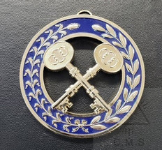 Grand Treasurer   Collar Jewel  Crossed Keys  Blue