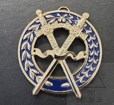 Grand  Sword Bearer Collar Jewel  Crossed  Sword  Blue