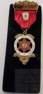 Royal Arch Companion Jewel Traditional Design  Red Ribbon