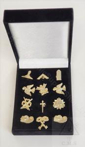 Presentation Box of Masonic Officers Lapel Pins