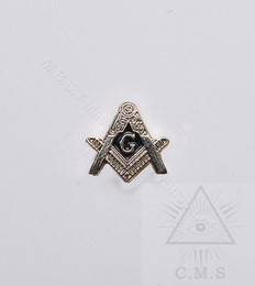 Masonic Square and Compass Lapel Pin
