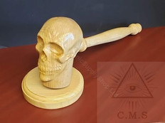 Skull Head Gavel and Sounding Block