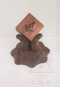 Masonic Wooden Cube on Stand