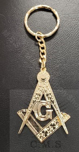 Masonic Key Ring   Square & Compasses
