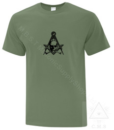 Masonic Tee Shirt  Green