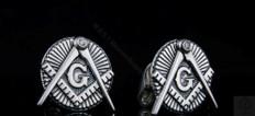 Sterling Silver Masonic Cuff Links