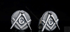 Sterling Silver Masonic Cuff Links