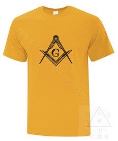 Masonic Tee Shirt  Yellow