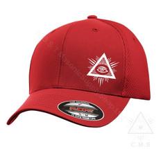 Masonic Baseball Hat  Flex Fit   All Seeing Eye Design   Assorted Colours