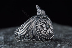 Odin,s Raven Viking Ring