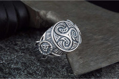 Triskelion Symbol   Viking   Silver Ring