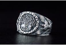 Viking Norse silver ring
