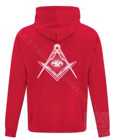 Masonic Hoodie  Red