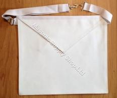 12 Apron Special! Entered Apprentice White  Lambskin  Apron  14 X 16  Adjustable Belt