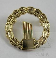 Masonic Widows Broken Column Pin