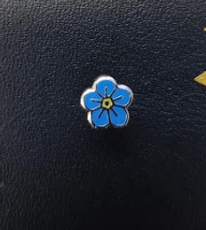 Forget me not  Masonic Lapel pin