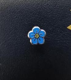 Forget me not  Masonic Lapel pin