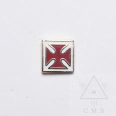 Maltese Cross lapel pin