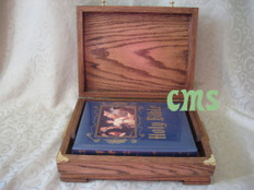Masonic Lodge Bible In Walnut Presentation Box